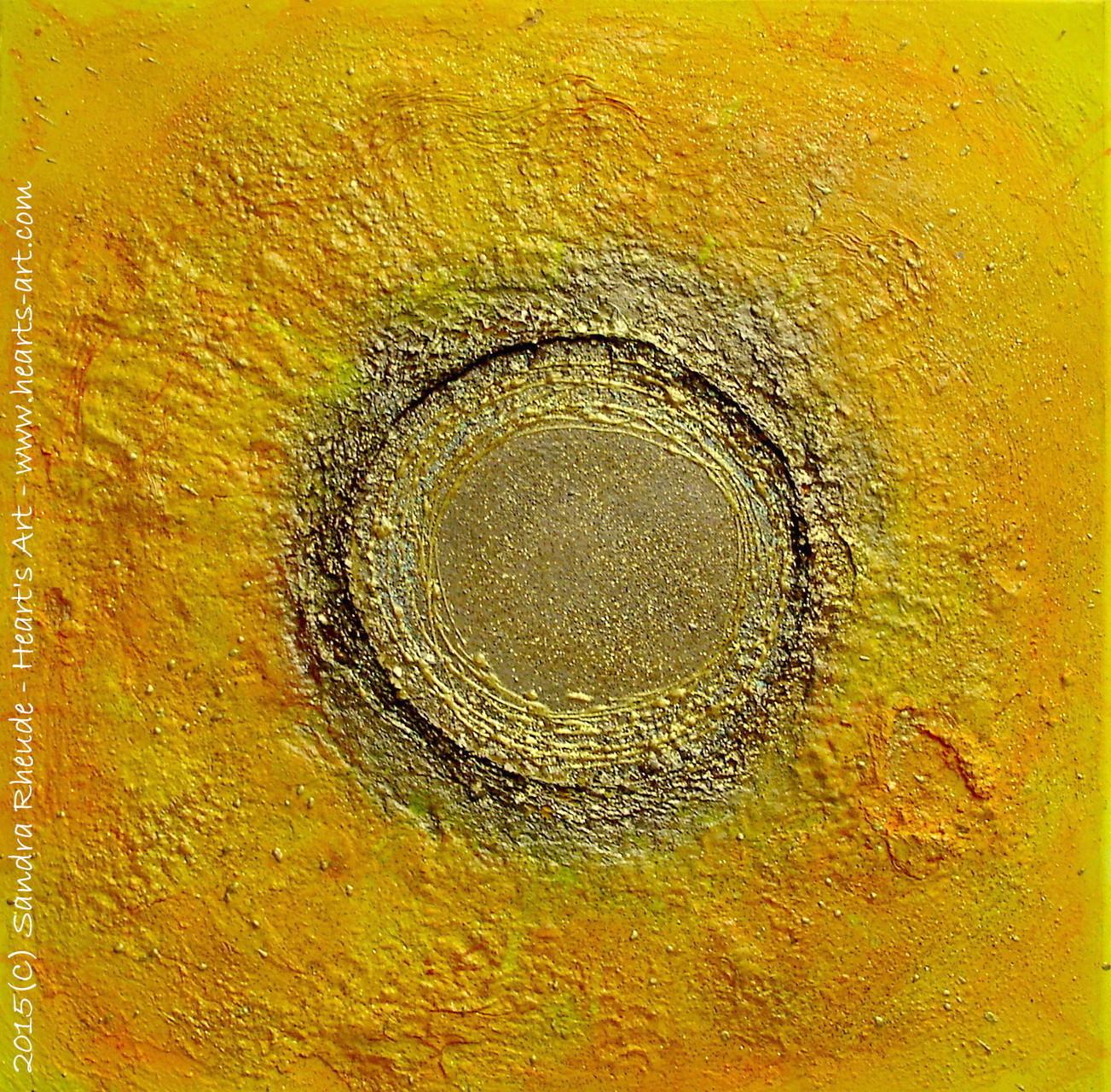 'Goldenes Jetzt' - 2015/4 - Acryl/MixedMedia auf Leinwand - 50 x 50 cm - € 220