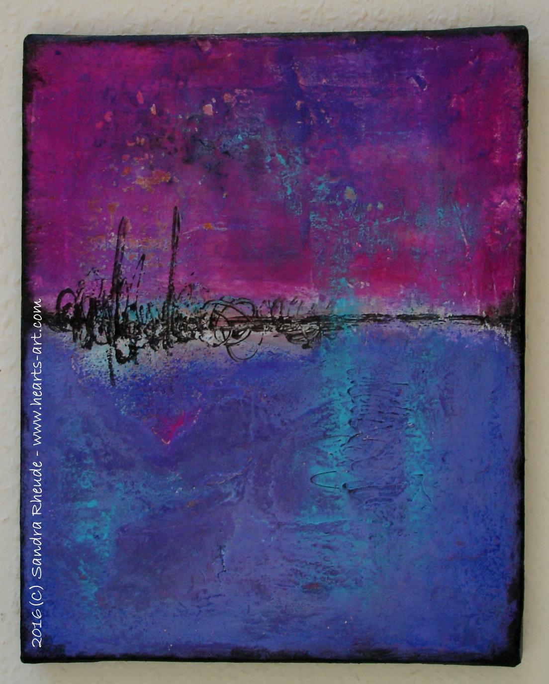 'Still talking about you' - 2016/25 - Acryl/MixedMedia auf Leinwand - 24 x 30 cm - € 130