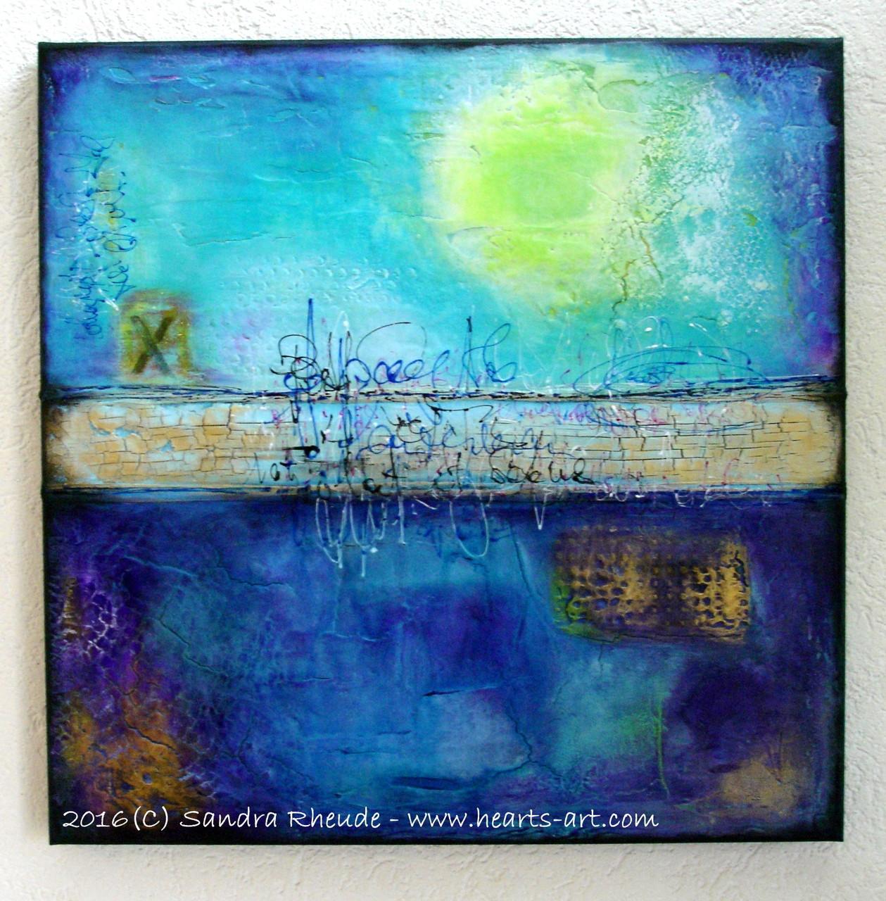 'Treasure Island' -  2016/17 - Acryl/MixedMedia auf Leinwand - 70 x 70 x 4,0 cm - € 1111