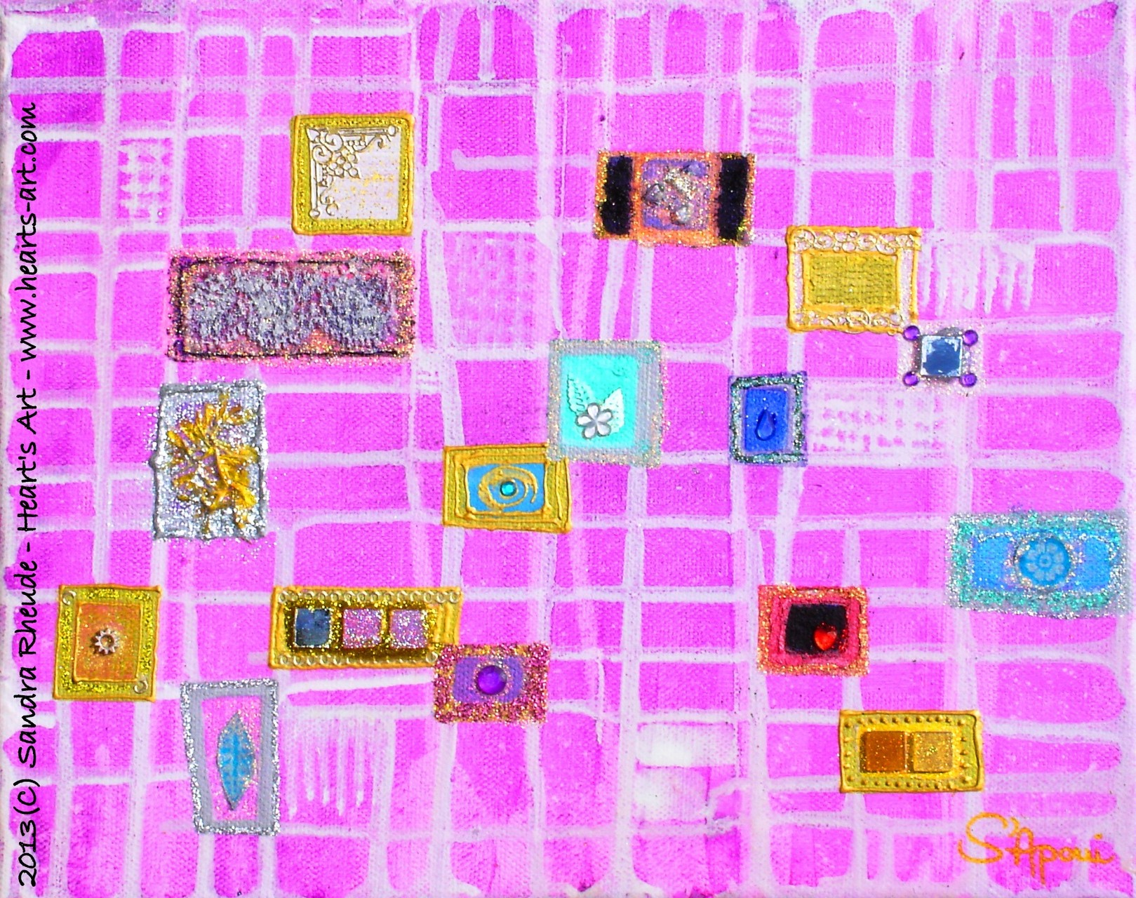 'Seelenfenster' - 2013/57 - Acryl/MixedMedia auf Leinwand - 30 x 24 cm - € 130