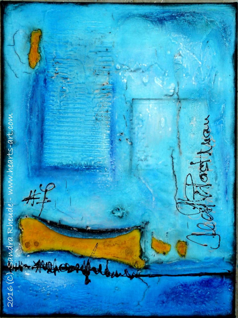 'Calle de Emilio Esteban' -  2016/12 - Acryl/MixedMedia auf Leinwand - 30 x 40 cm - € 220