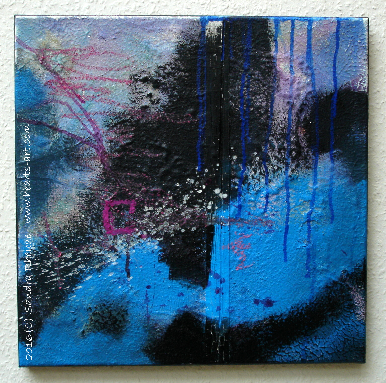 'Beyond the Blue' - 2016/28 - Acryl/MixedMedia auf Leinwand - 40 x 40 x cm - € 220