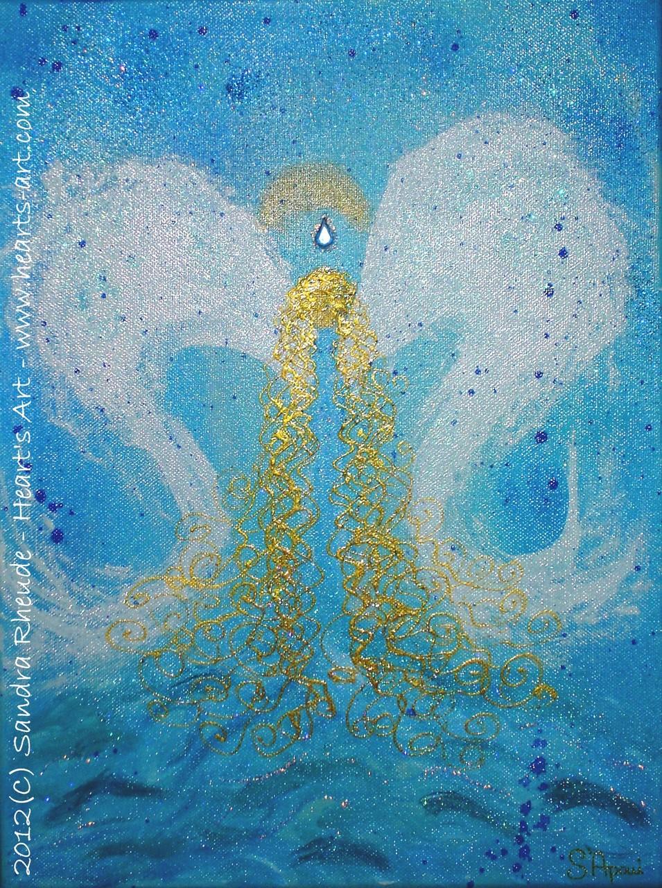 Kinder-Schutzengel 'Kleine Wasserratte' - 2012/20 - Acryl auf Leinwand - 30 x 40 cm - € 80