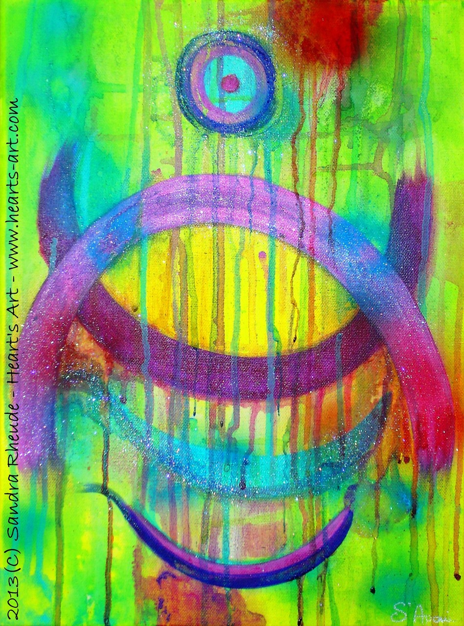 'Courage' - 2013/39 - Acryl auf Leinwand - 30 x 40 cm - verkauft