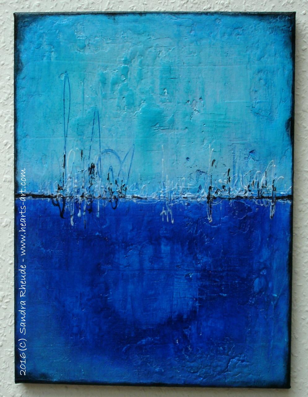 'Deep Blue' -  2016/18 - Acryl/MixedMedia auf Leinwand - 30 x 40 cm - € 220