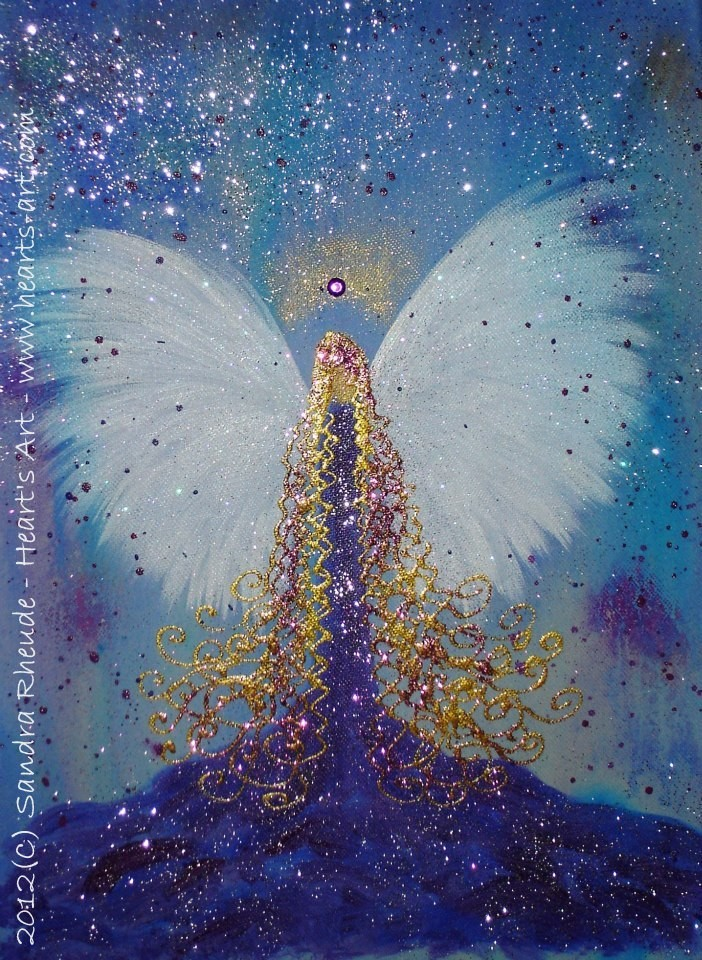 'Butterfly Angel' - 2012/33 - Acryl auf Leinwand - 30 x 40 cm - verkauft (Wien)