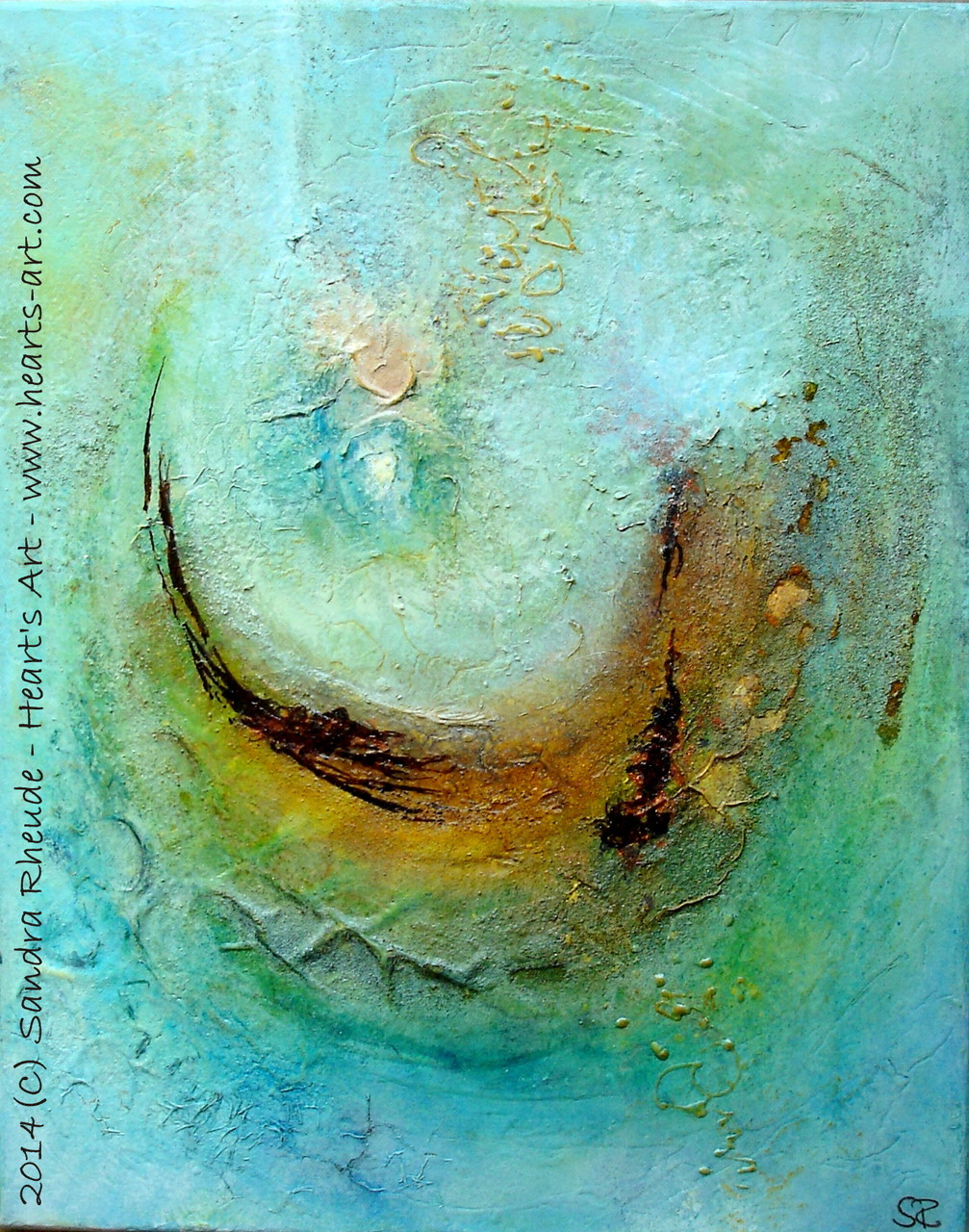 'Aufbruch' - 2014/31 - Acryl/MixedMedia auf Leinwand - 30 x 40 cm - € 270