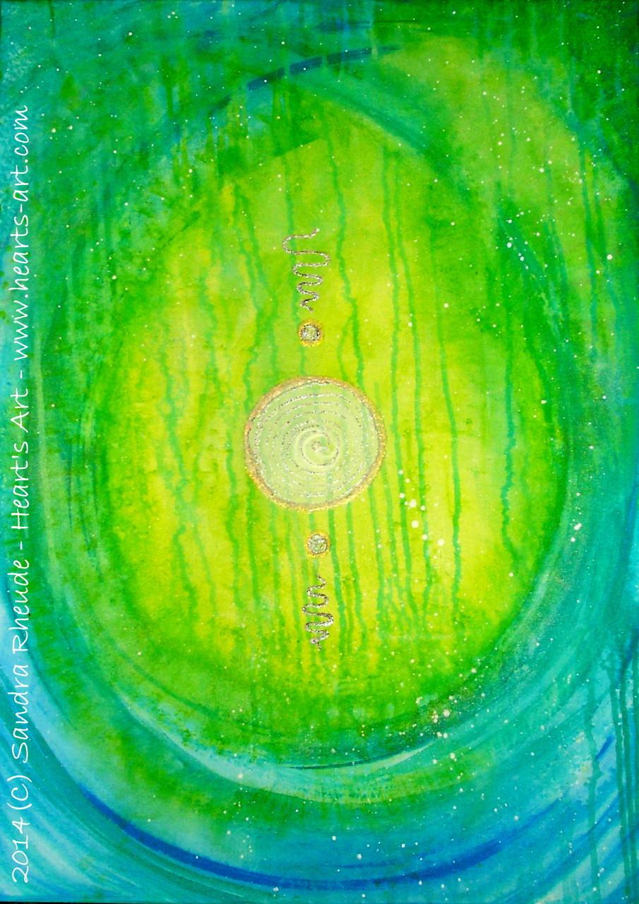 'Bewusstwerdung' - 2014/25 - Acryl auf Leinwand - 50 x 70 cm -verkauft (München)