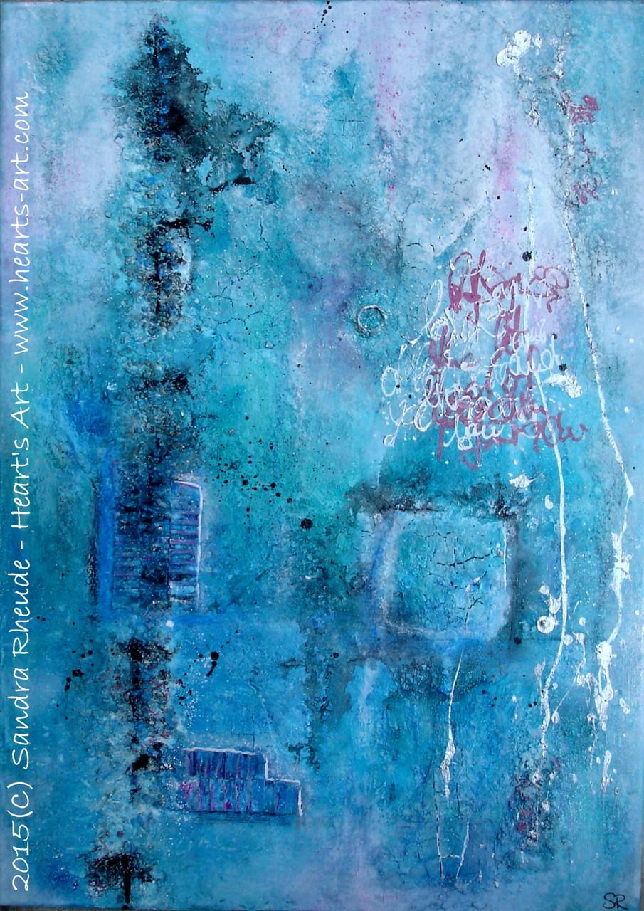 '36° Grad Fantasie' - 2015/21 - Acryl/MixedMedia auf Leinwand - 50 x 70 cm - € 290