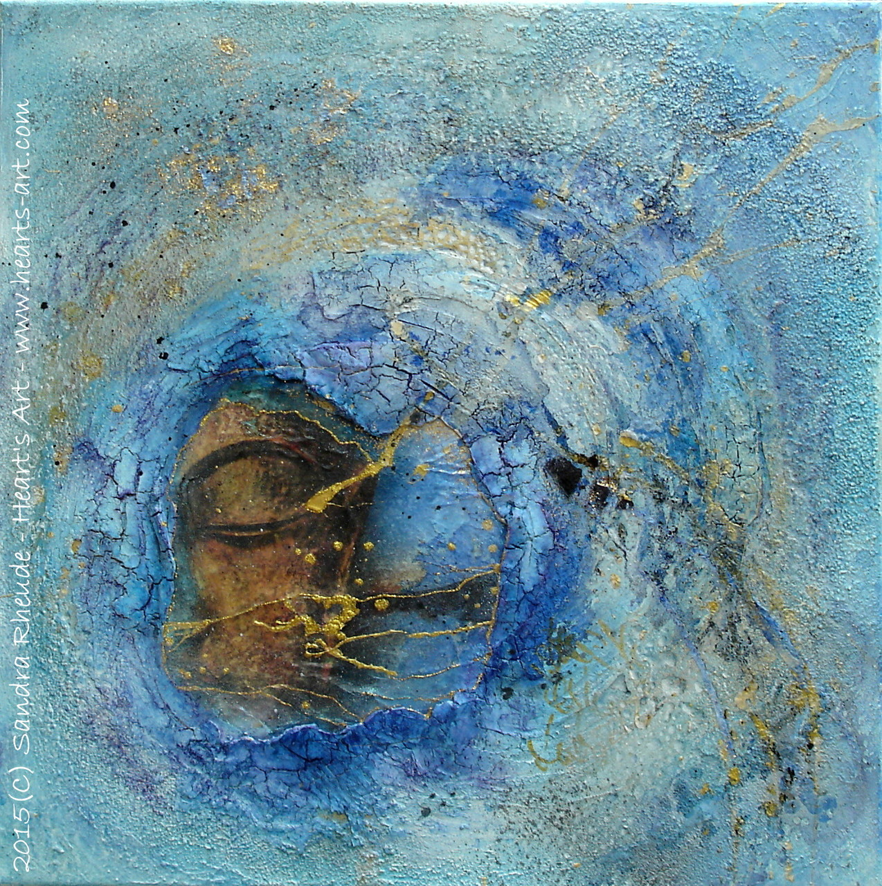 'Auge des Sturms/Eye of the Storm' - 2015/19 - Acryl/MixedMedia auf Leinwand - 50 x 50 cm - € 290