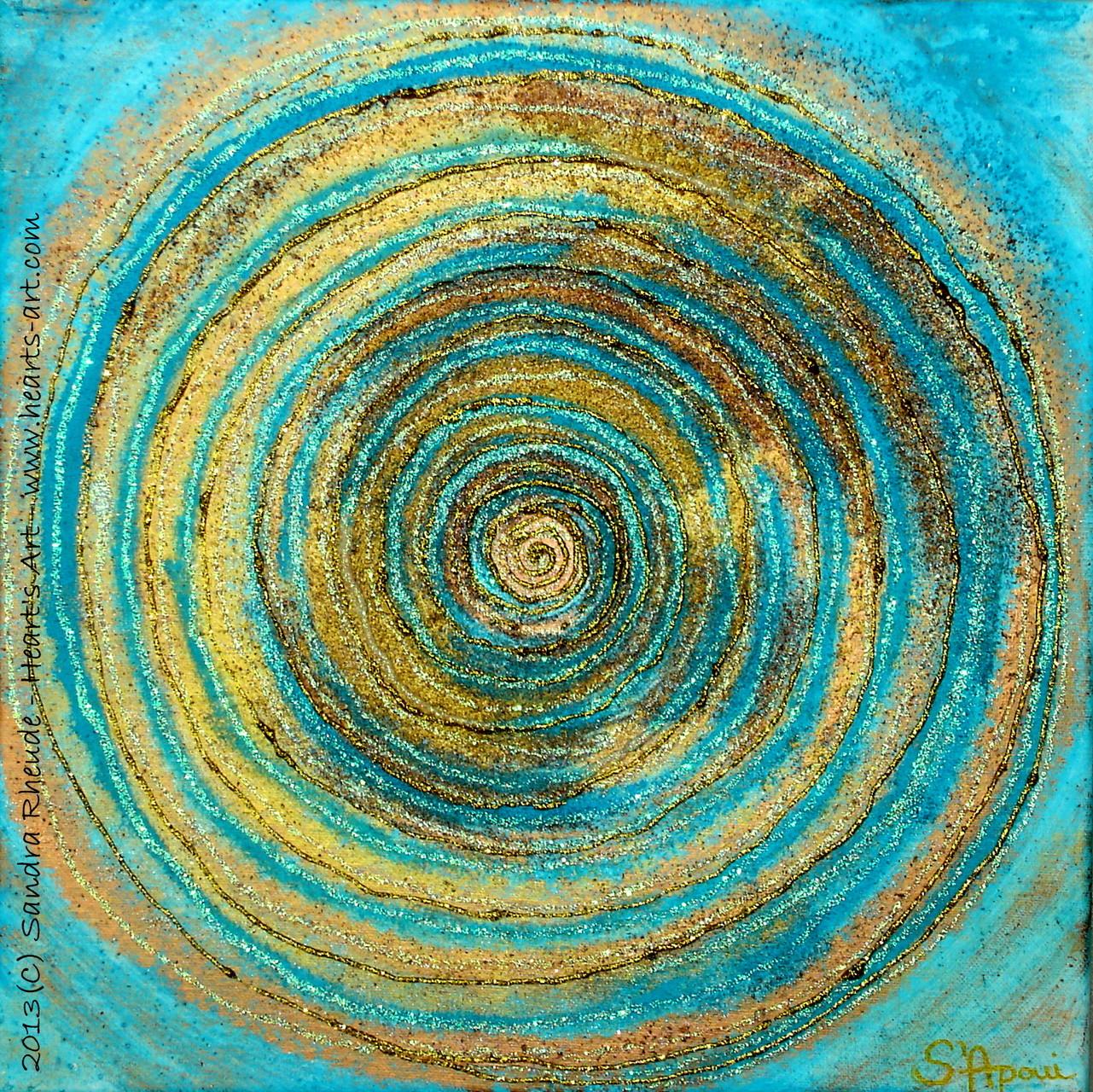 'Energiespirale' - 2013/61 - Acryl/MixedMedia auf Leinwand - 30 x 30 cm - € 110