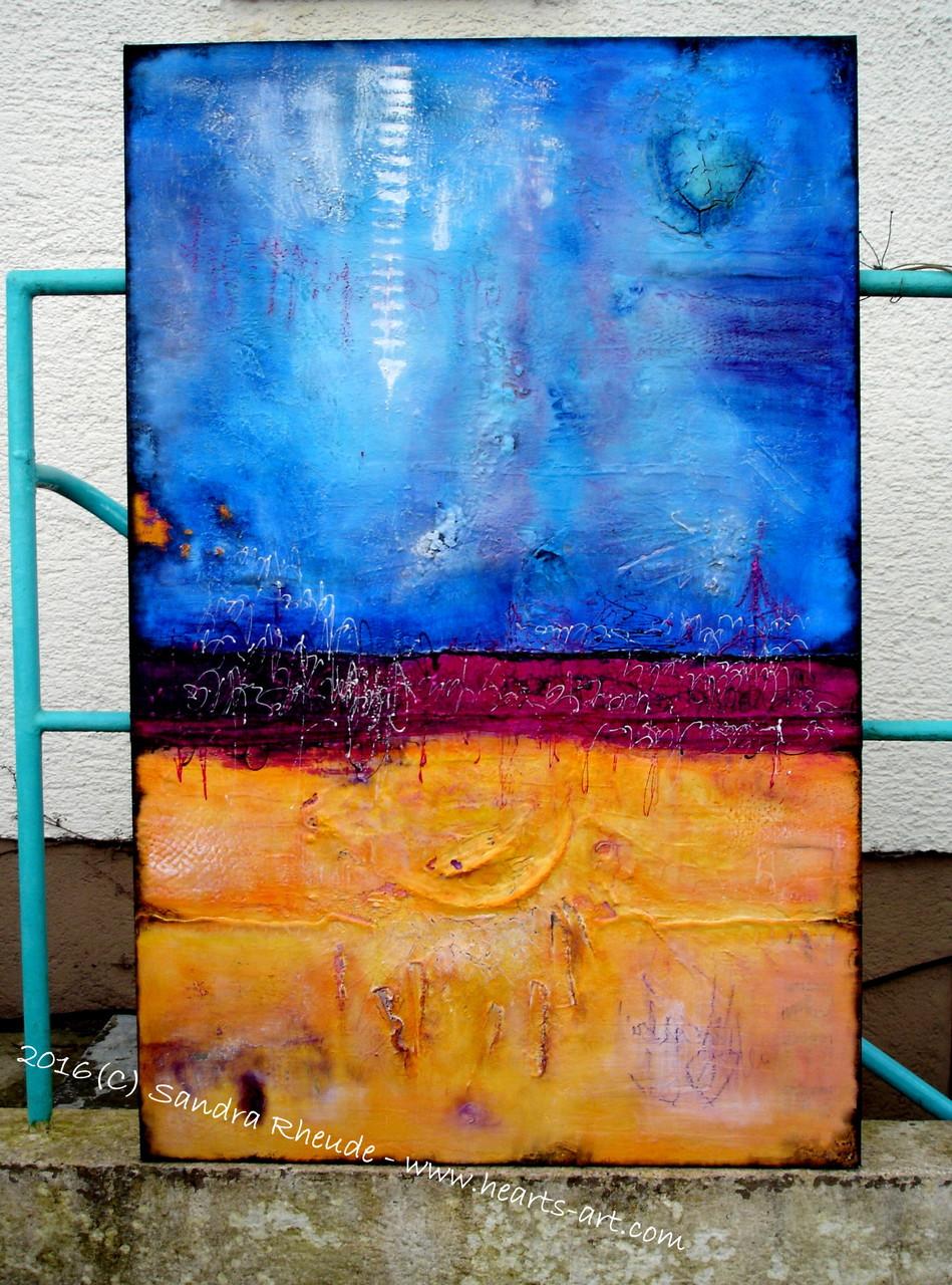 'Sunny Side up' -  2016/11 - Acryl/MixedMedia auf Leinwand - 75 x 115 cm - verkauft (Bayern)