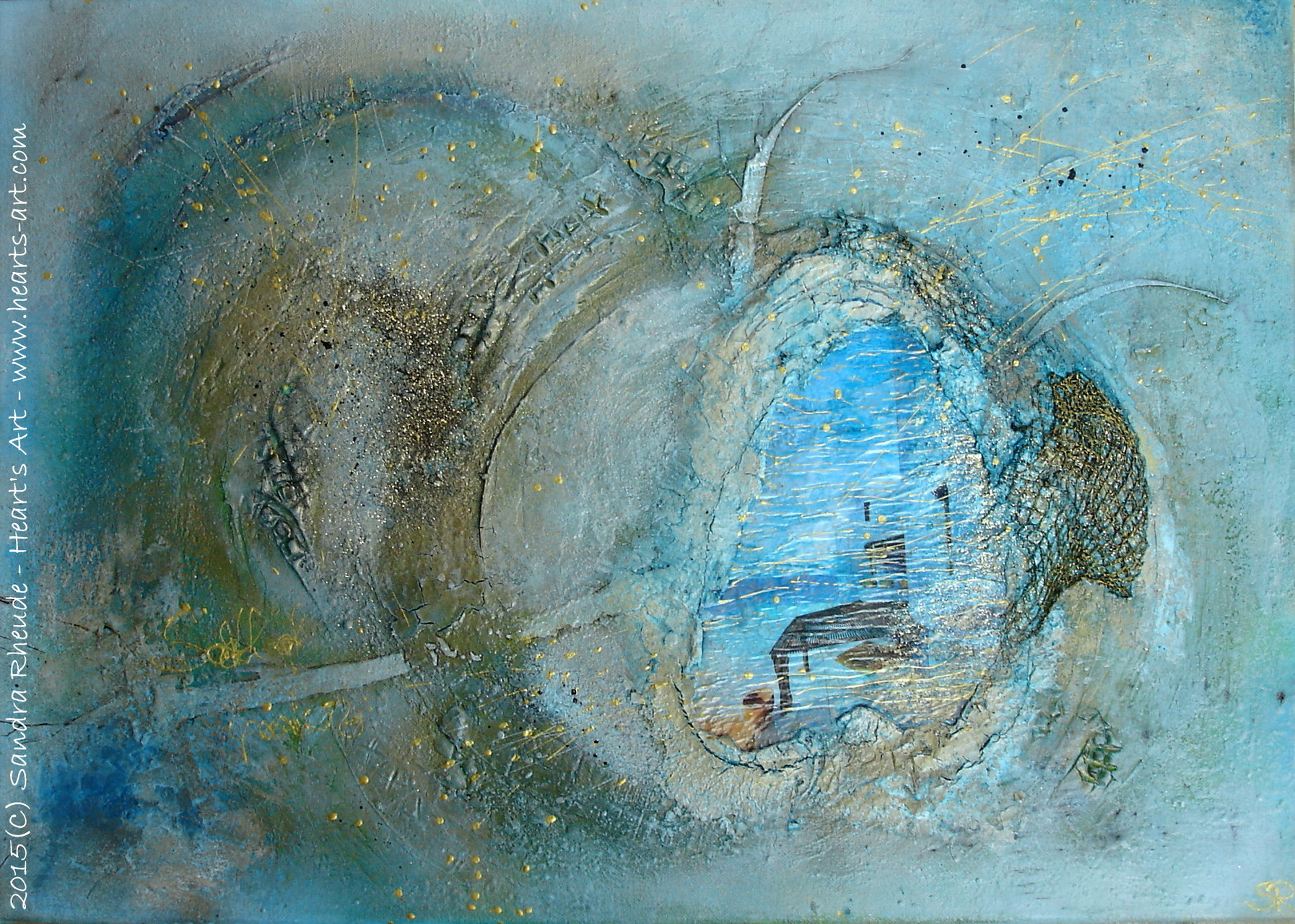 'Dreamscape' - 2015/14 - Acryl/MixedMedia auf Leinwand - 70 x 50 cm - € 290