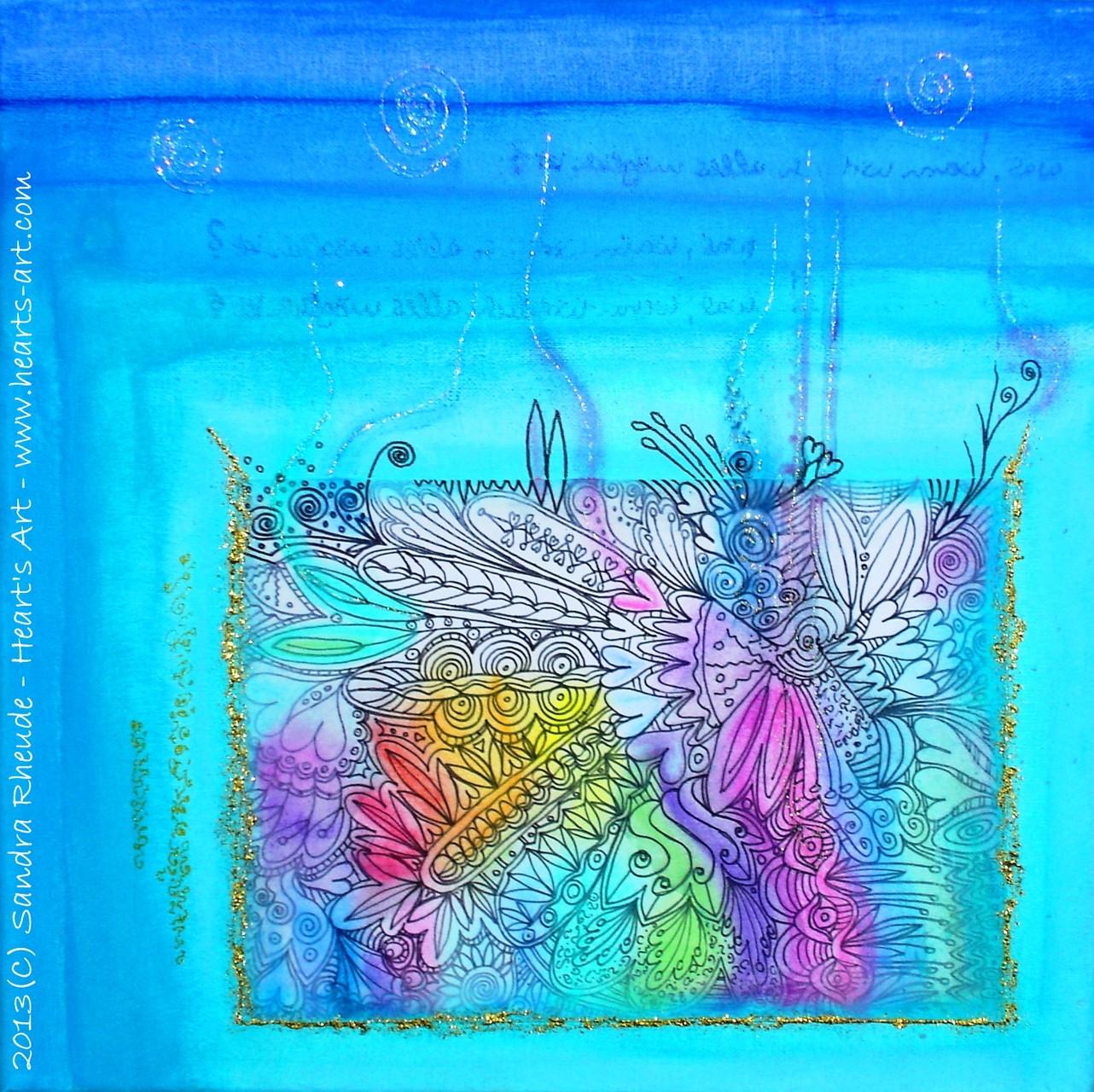 'Was, wenn wirklich alles möglich ist?' - 2013/73 - Acryl/MixedMedia auf Leinwand - 30 x 30 cm - € 130