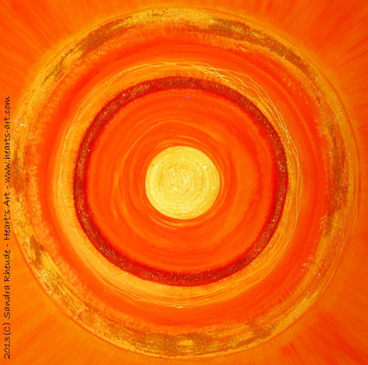 'Auftragsarbeit' - 2013/70 - Acryl/MixedMedia auf Leinwand - 100 x 100 x 4 cm - verkauft (Ulm)