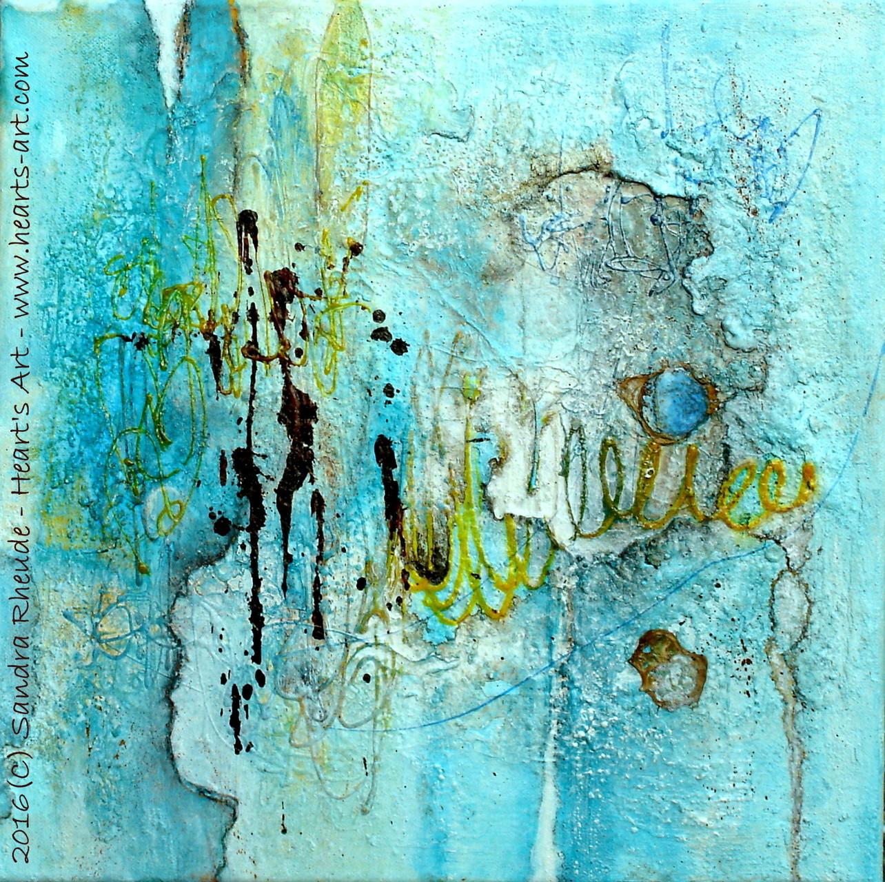 'Leichtigkeit' - 2016/01 - Acryl/MixedMedia auf Leinwand - 40 x 40 cm - € 180