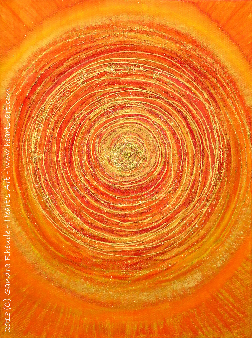 'Intuition' - 2013/68 - Acryl/MixedMedia auf Leinwand - 30 x 40 cm - € 130
