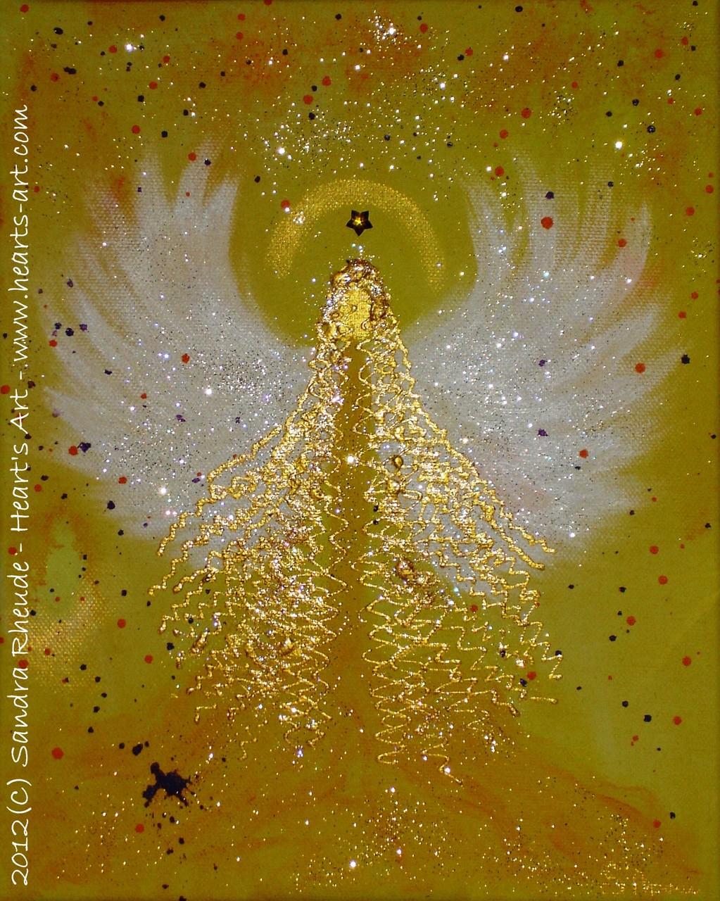 Kinder-Schutzengel 'Sweet Honey' - 2012/42 - Acryl auf Leinwand - 24 x 30 cm - verkauft (Wien)