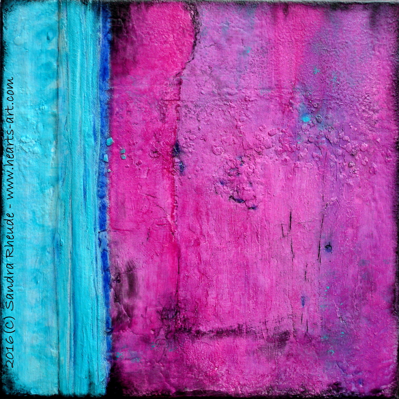 'Old Stories' - 2016/10 - Acryl/MixedMedia auf Leinwand - 40 x 40 cm - € 190
