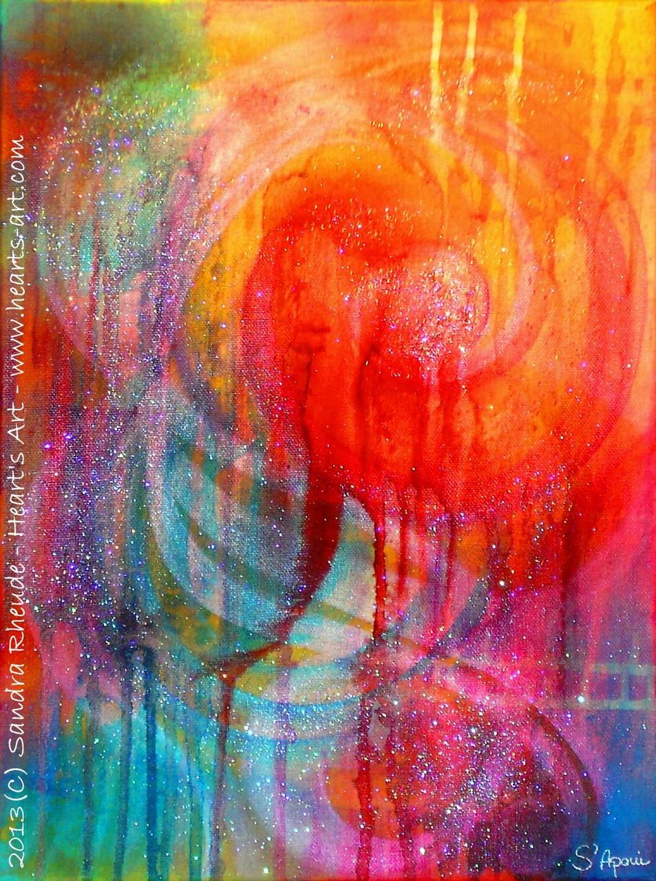 'Pain' - 2013/40 - Acryl auf Leinwand - 30 x 40 cm - verkauft