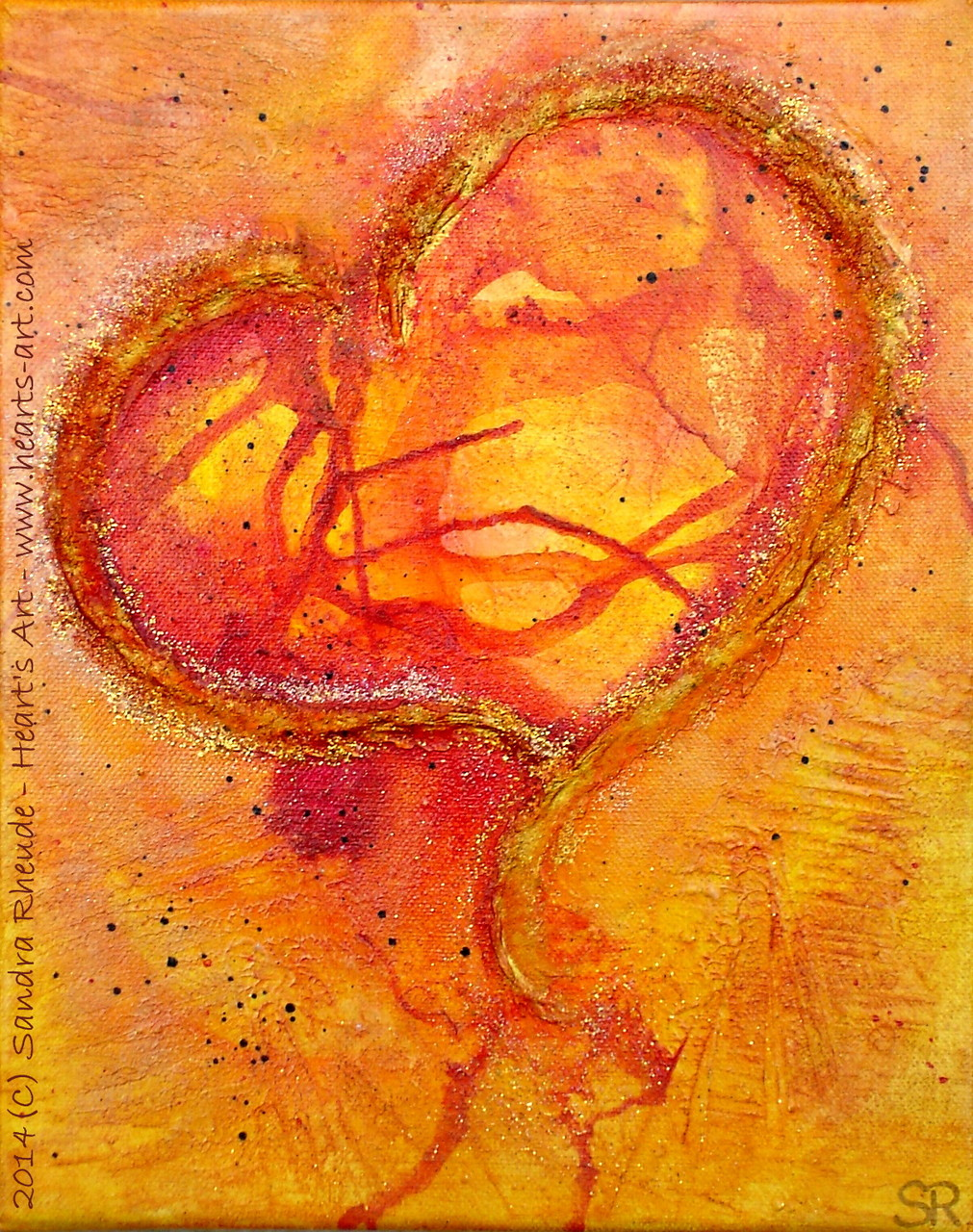 'Passionate Heart' - 2014/30 - Acryl/MixedMedia auf Leinwand - 24 x 30 cm - verkauft (Münster)