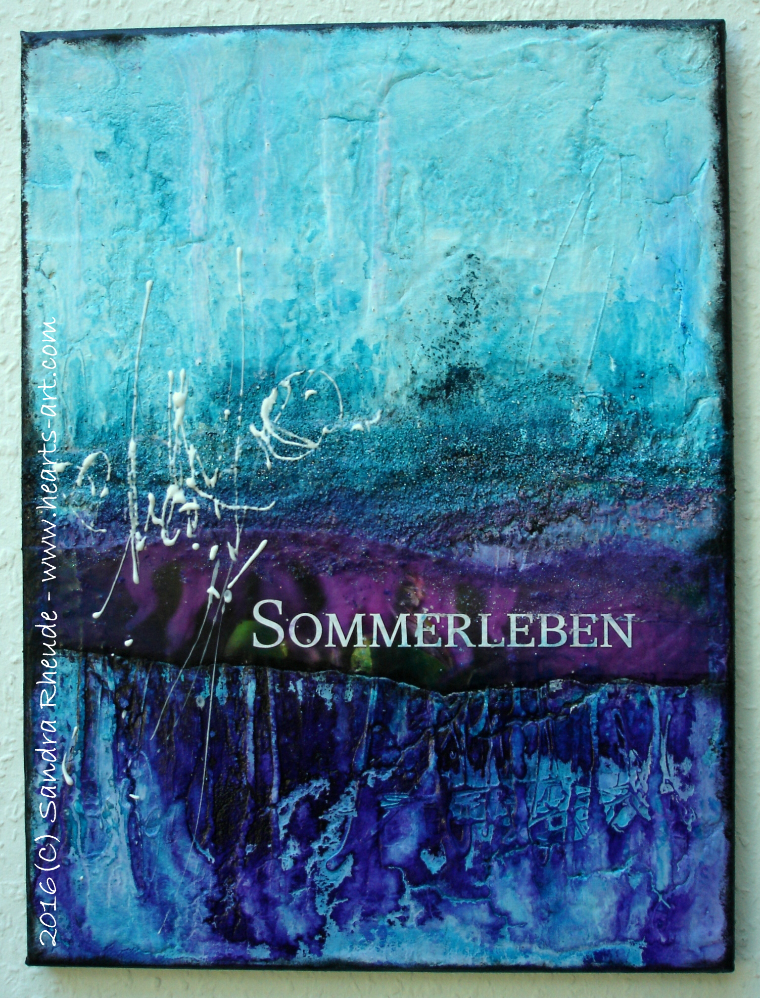 'Sommerleben' - 2016/36 - Acryl/MixedMedia auf Leinwand - 30 x 40 cm - € 190