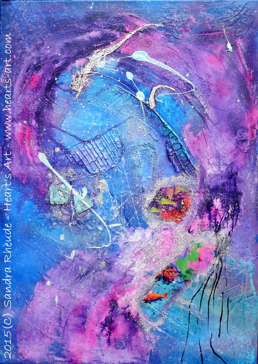 'Von Korallenriffen und Mondfrauenträumen' - 2015/06 - Acryl/MixedMedia auf Leinwand - 50 x 70 cm - € 330