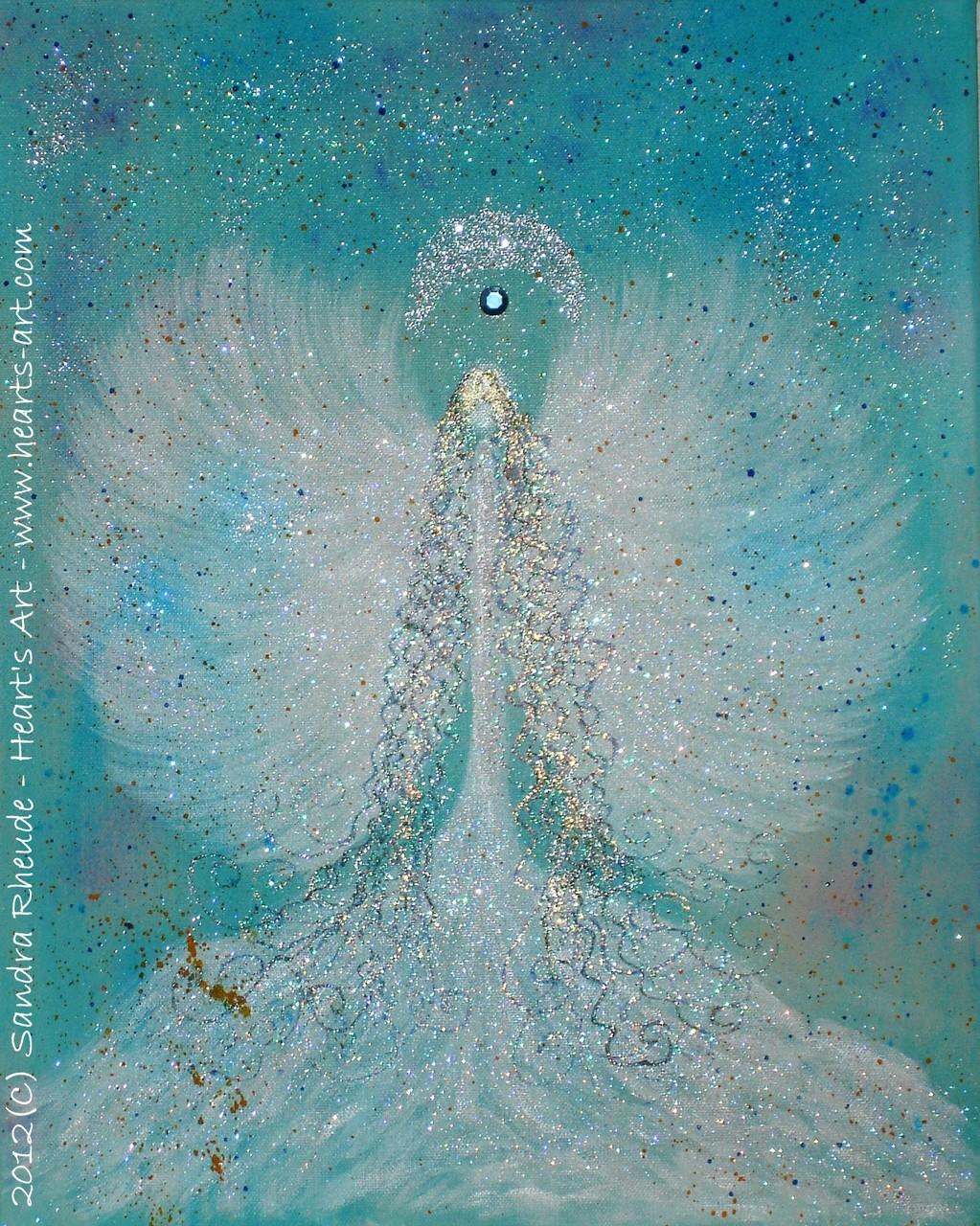 'Engel der Leichtigkeit' - 2012/65 - Acryl auf Leinwand - 40 x 50 cm - verkauft (Hamburg)