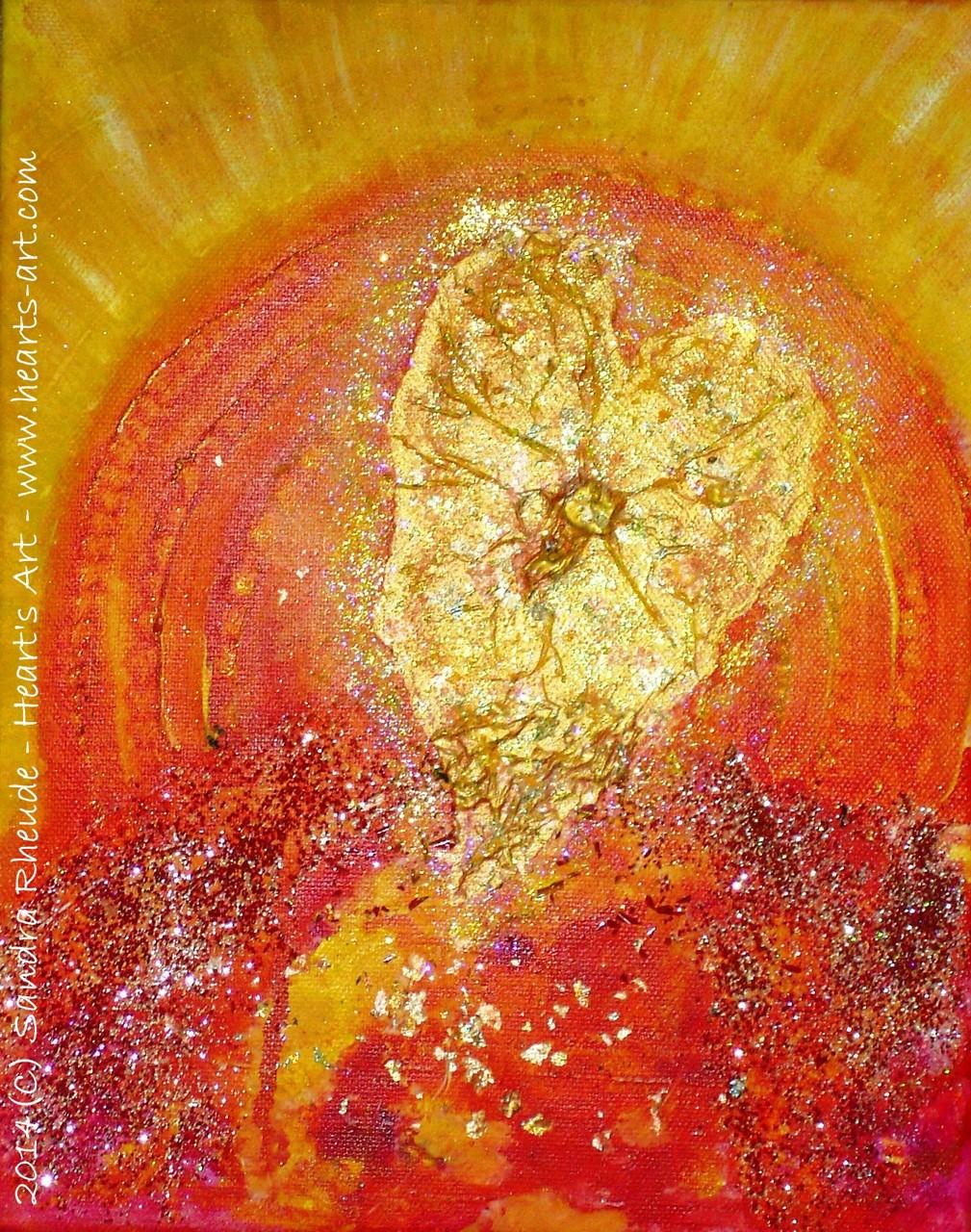 'Unfolding Heart' - 2014/4 - Acryl/MixedMedia auf Leinwand - 24 x 30 cm - verkauft (Hamburg)