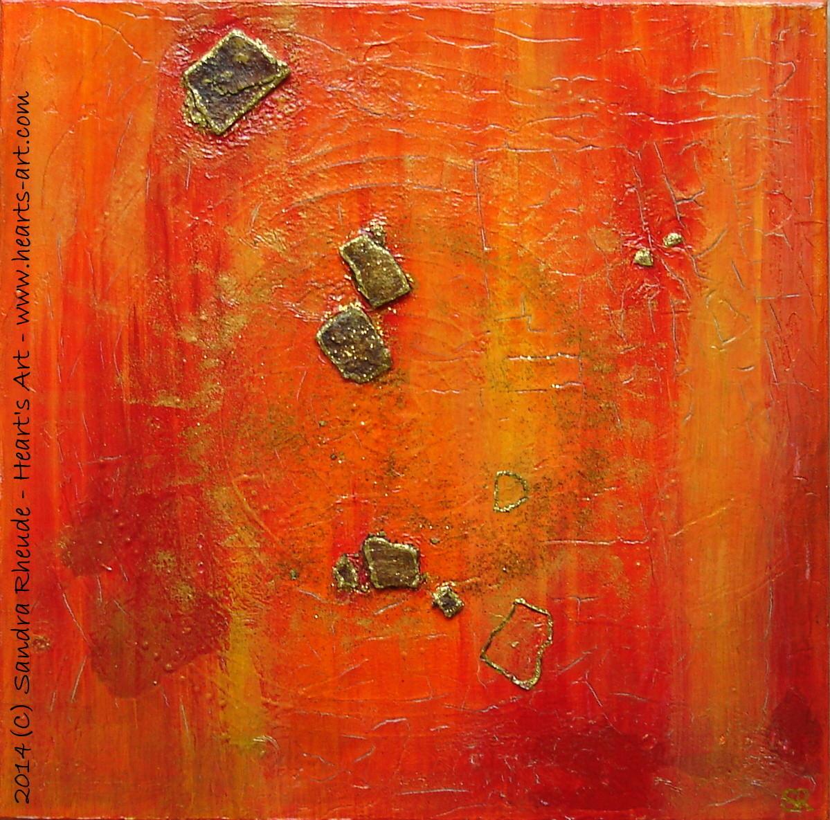'Untitled' - 2014/29 - Acryl/MixedMedia auf Leinwand - 40 x 40 cm - € 190