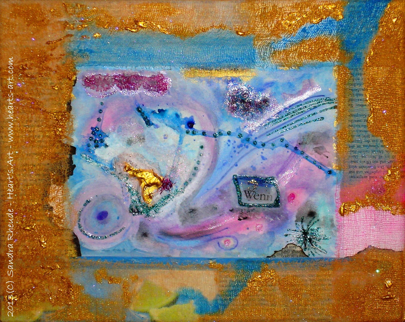 'Wenn' - 2013/76 - Acryl/MixedMedia auf Leinwand - 30 x 24 cm - € 130