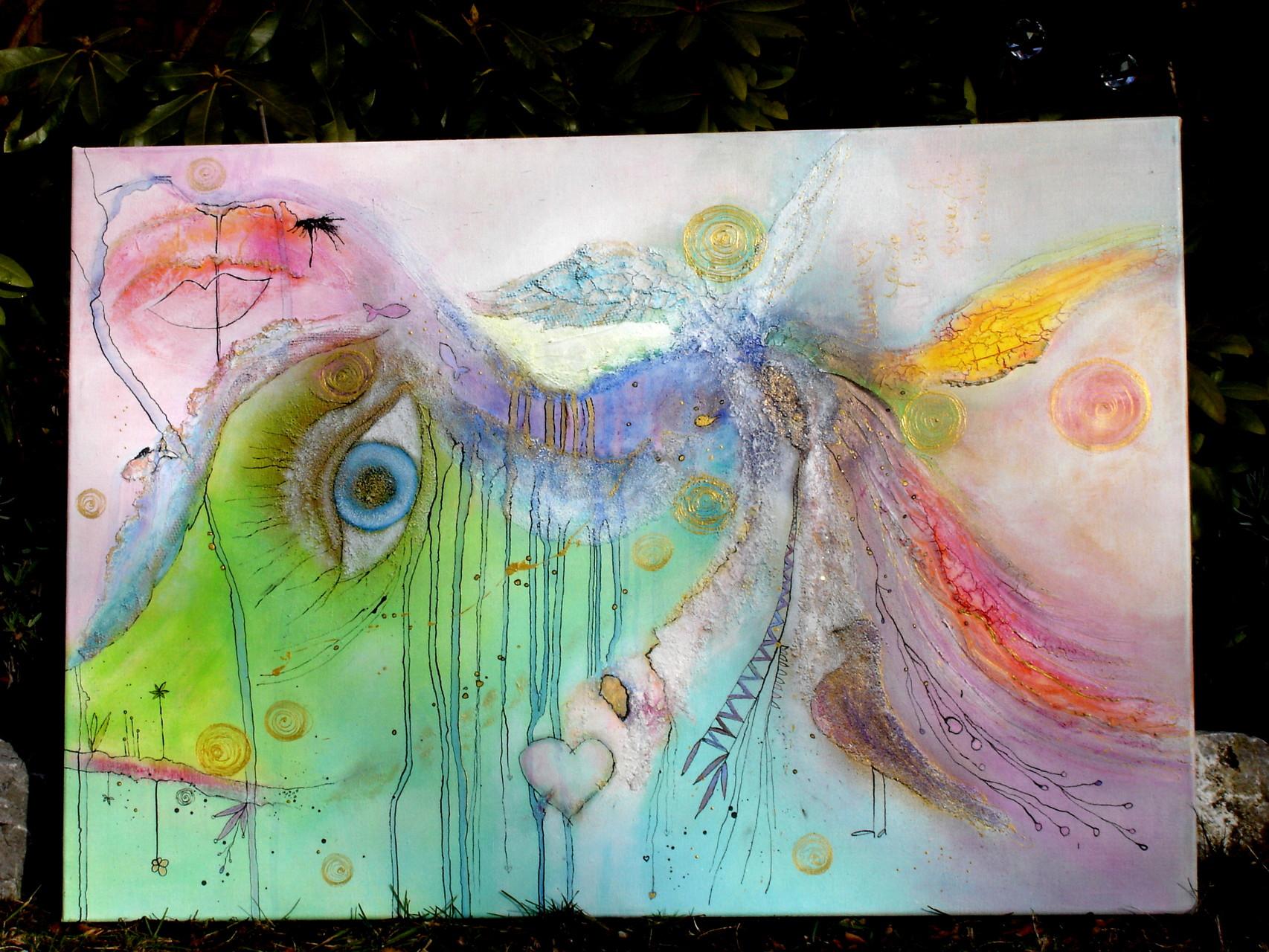 'Träumchenmalerei' - 2016/2 - Acryl auf Leinwand - 100 x 70 cm - verkauft (Deutschland)