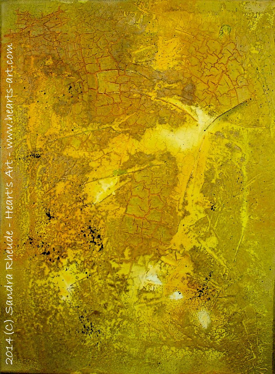 'Yellow' - 2014/40 - Acryl/MixedMedia auf Leinwand - 30 x 40 cm - verkauft (Bayern)
