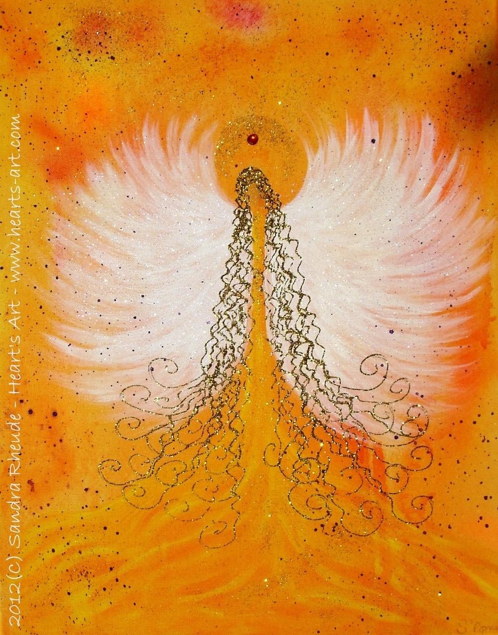 'Phoenix Angel' - 2012/64 - Acryl auf Leinwand - 40 x 50 cm - verkauft