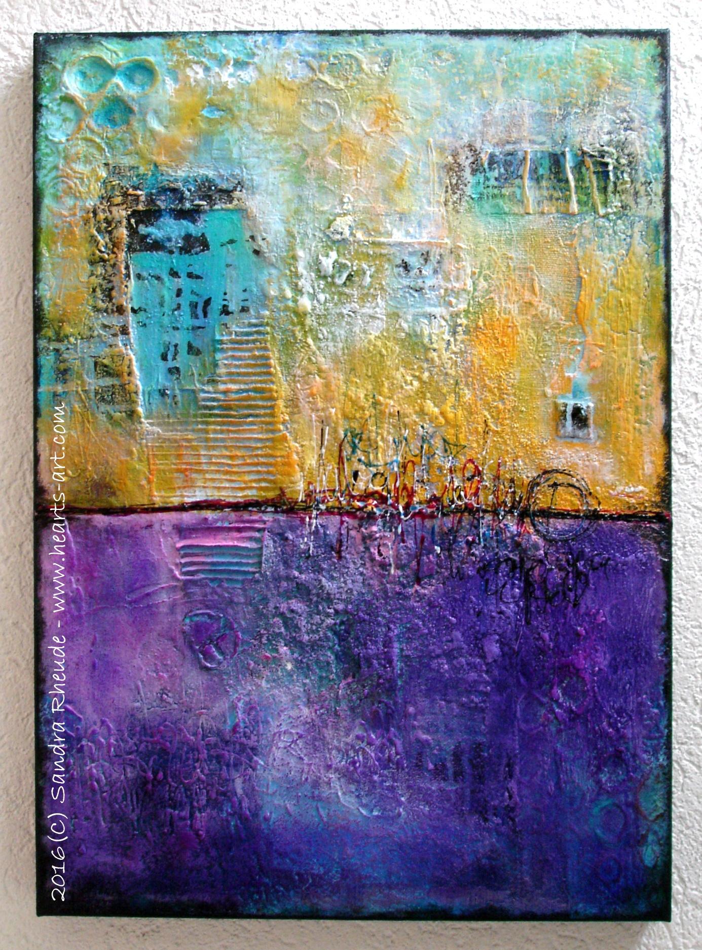 'Granada Day & Night' - 2016/27 - Acryl/MixedMedia auf Leinwand - 50 x 70 x 4,5 cm - € 888