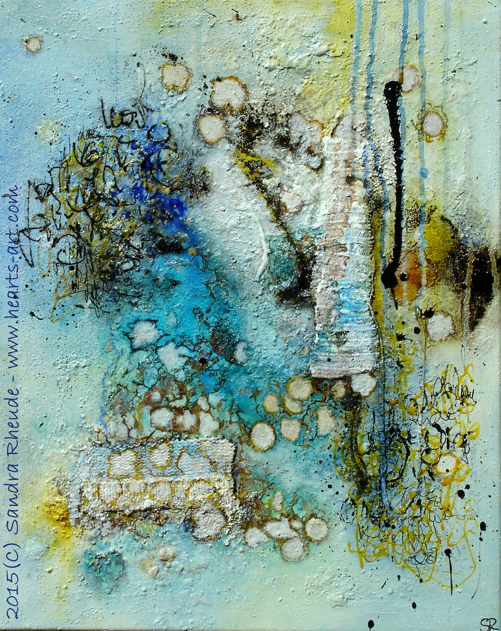 'Messages...' - 2015/27 - Acryl/MixedMedia auf Leinwand - 40 x 50 cm - € 290