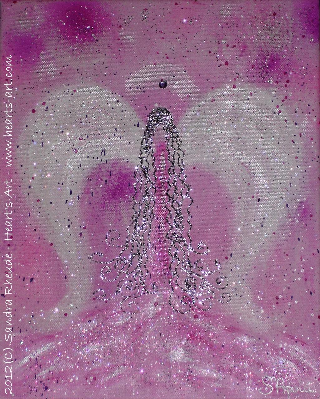 Kinder-Schutzengel 'Hearty' - 2012/49 - Acryl auf Leinwand - 24 x 30 cm - verkauft (München)