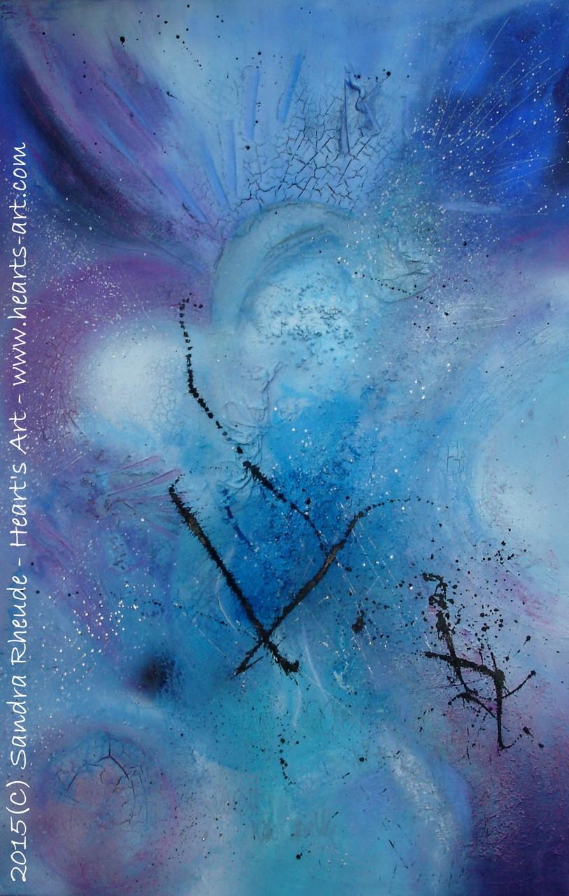 'Der Schrei' - 2015/1 - Acryl/MixedMedia auf Leinwand - 75 x 115 cm - verkauft (Bayern)