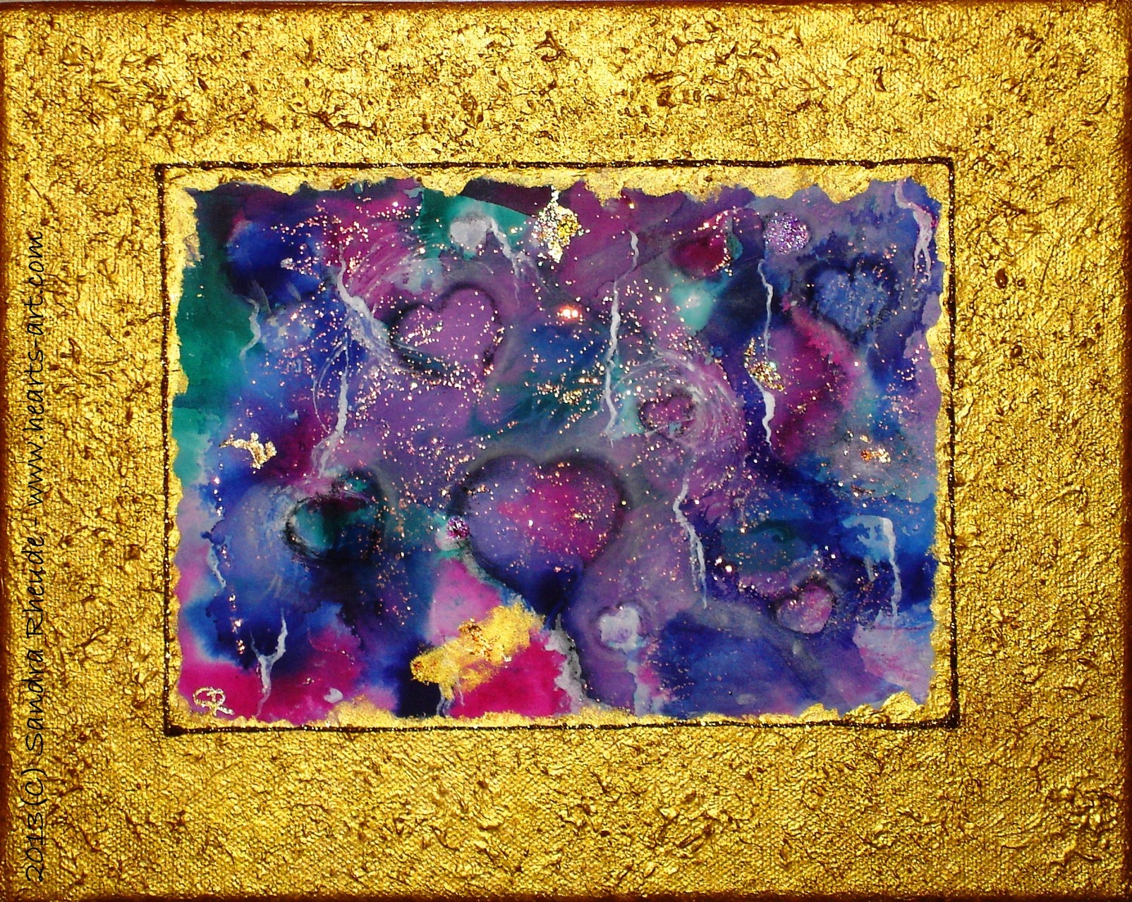 'Universe of Searching Hearts' - 2013/78 - Acryl/MixedMedia auf Leinwand - 30 x 24 cm - € 130