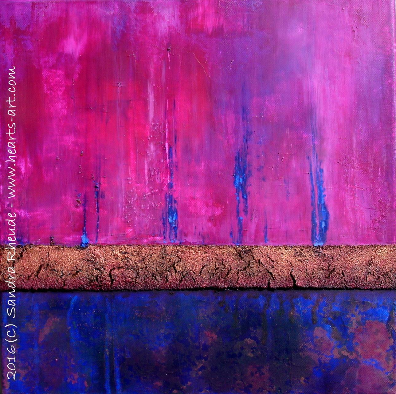'Purple Passion' - 2016/6 - Acryl/MixedMedia auf Leinwand - 40 x 40 cm - € 180 - kann auch kopfüber aufgehängt werden