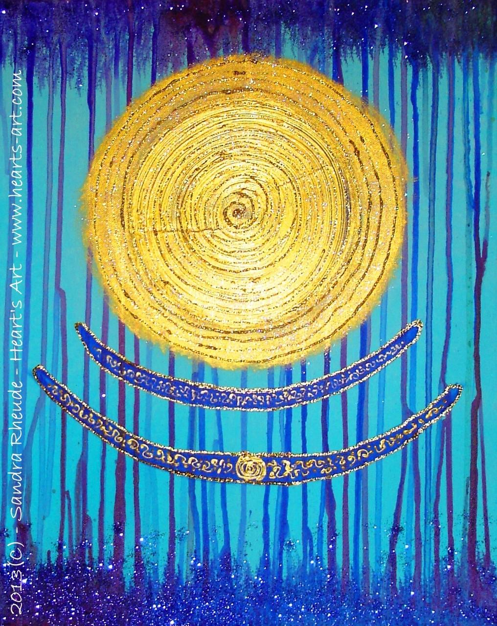 'Vergebung' - 2013/64 - Acryl/MixedMedia auf Leinwand - 40 x 50 cm - verkauft