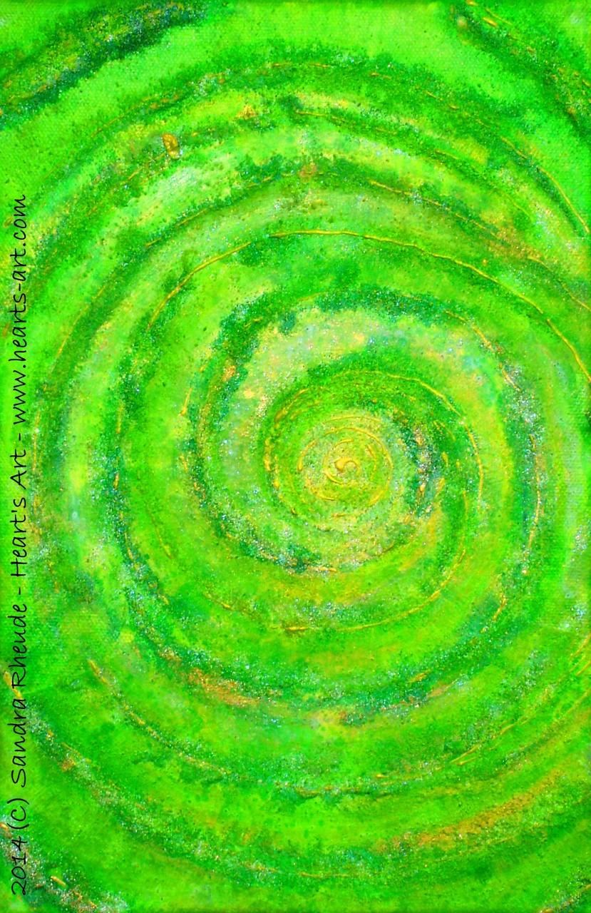 'About a green Dream' - 2014/19 - Acryl/MixedMedia auf Leinwand - 20 x 30 cm - verkauft (Köln)