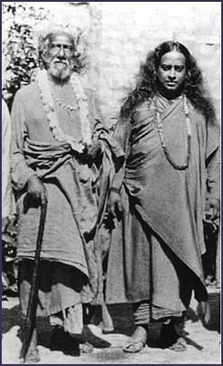 Paramahansa Yogananda et Sri Yukteswar Giri