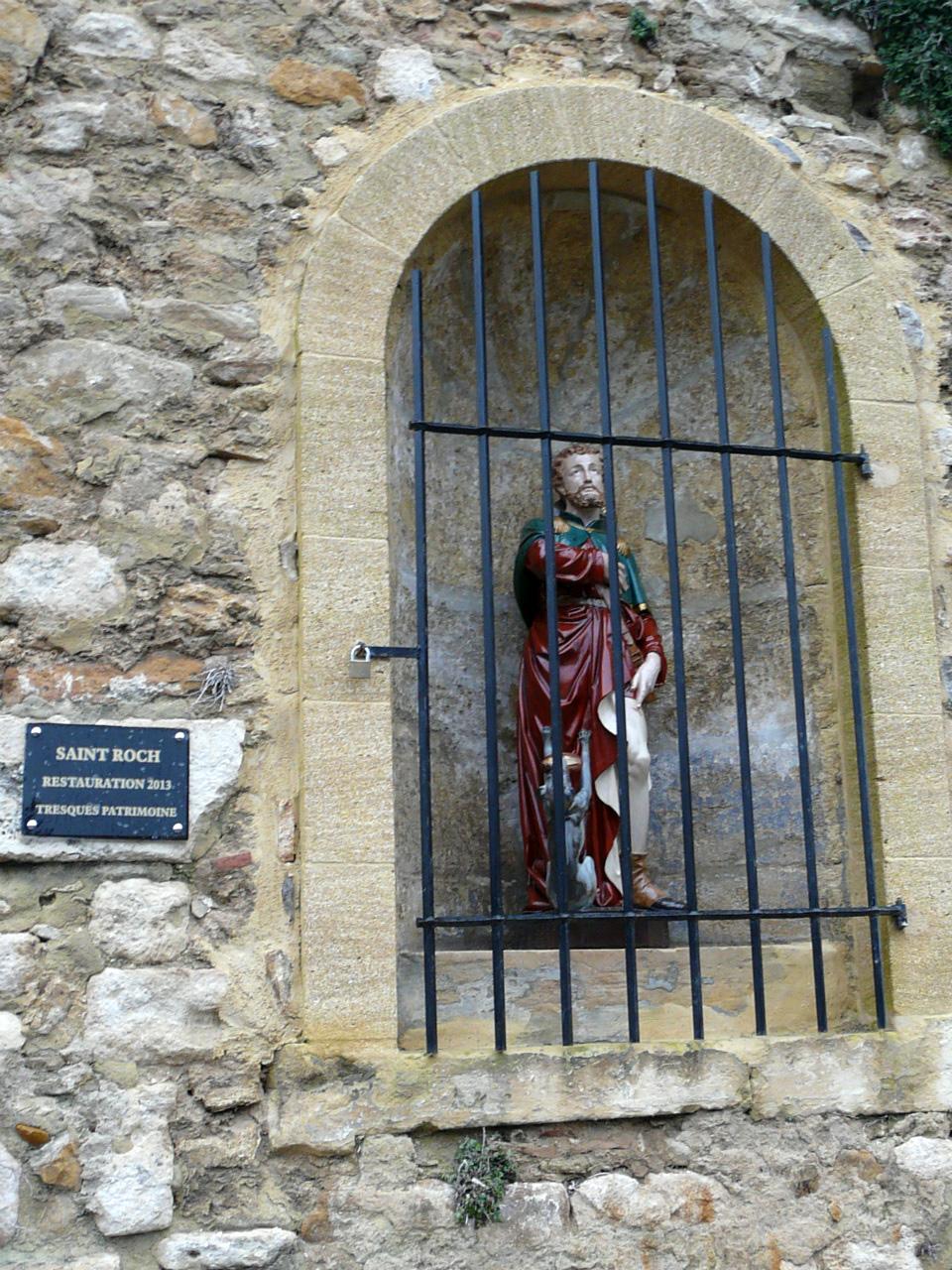 Inauguration de la Statue de Saint Roch