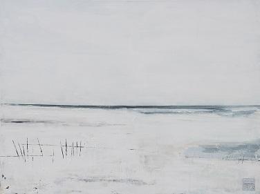 Landschaft ohne Frau XII- 2016 - 90 x 120 - Acryl auf Leiwand