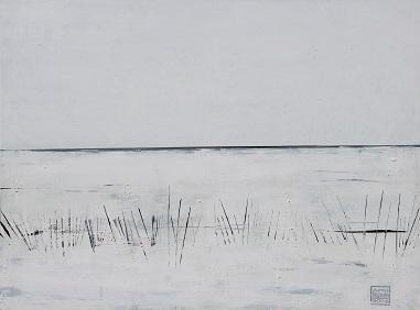 Landschaft ohne Frau XIV- 2016 - 90 x 120 - Acryl auf Leiwand
