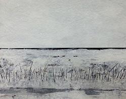 Landschaft ohne Frau XVIII - 2016 - 70 x 100 - Acryl auf Papier