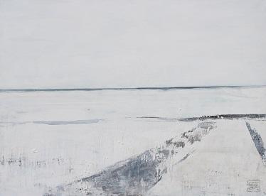 Landschaft ohne Frau XV- 2016 - 90 x 120 - Acryl auf Leiwand