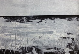Landschaft ohne Frau XVI- 2016 - 70 x 100 - Acryl auf Papier