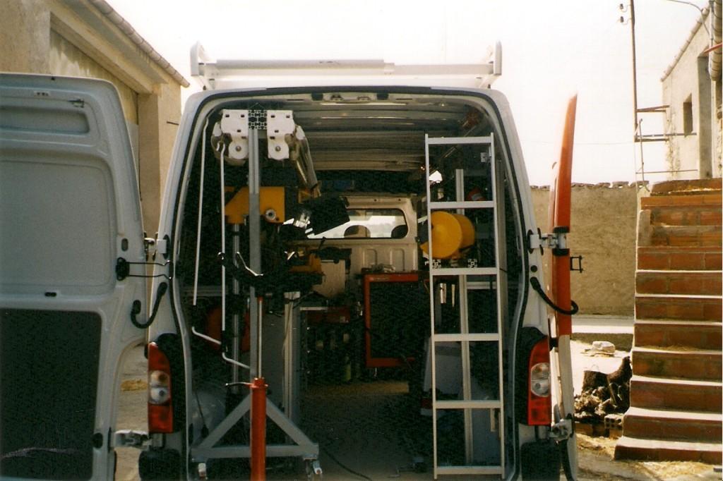 L'interior de la nostra furgoneta